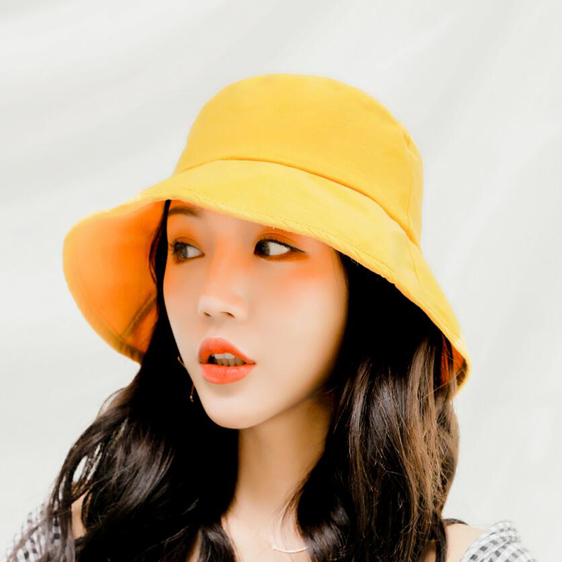 SUOGRY 2019 New Spring Summer Cotton Bucket Hats for Women Men Outdoor Travel Hat Caps