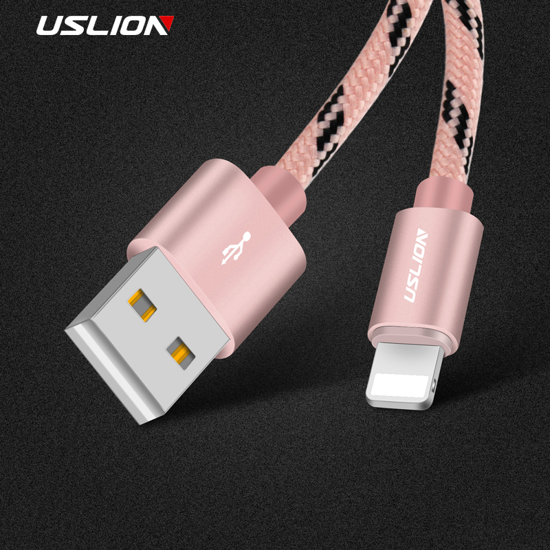 USLION Micro USB Cable For iPhone X 8 7 5 6 Plus Fast Charging Phone Charger adapter Data Nylon Cabel For IOS 11 10 9