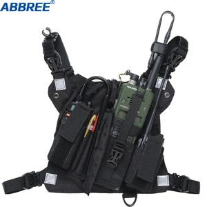 Image 1 - ABBREE Radio Chest Harness Chest Front Pack Pouch Holster Vest Rig for Two Way Radio Walkie Talkie(Rescue Essentials)