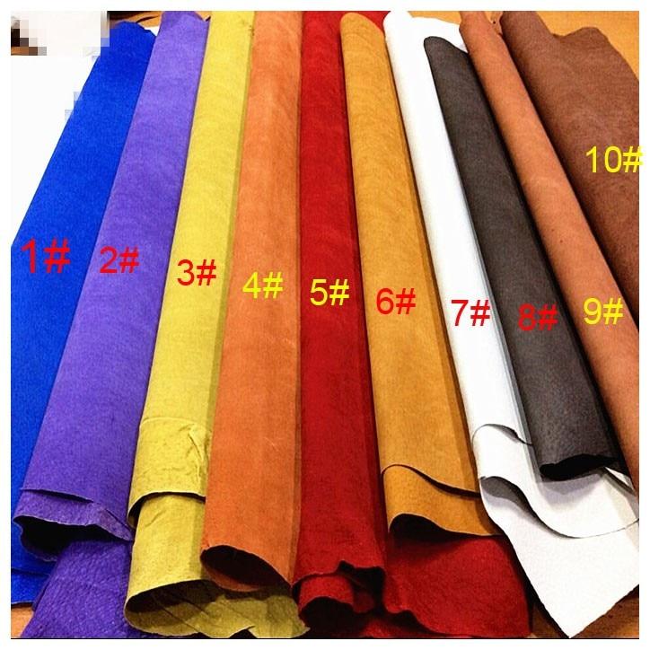 Multi cor Genuína sapatos de camurça de porco do forro dividir Esconder material de couro Pele venda por peça inteira