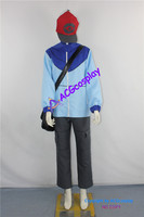 Pokemon Trainer Black Touya Cosplay Costume incl. functional bag and hat ACGcosplay