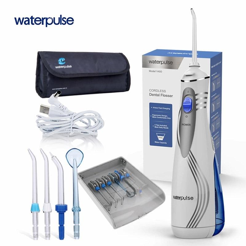 Impulsion DE l'eau V400 jet dentaire électrique Jet Dentaire Hydropulseur Bouche Dents de nettoyage Irrigateur Dentaire Portable eau Floss