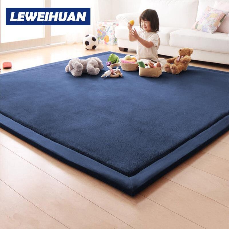 Tapis de jeu épais tapis de couverture en molleton de corail enfants bébé ramper Tatami tapis matelas de coussin pour chambre enfants cadeaux de noël