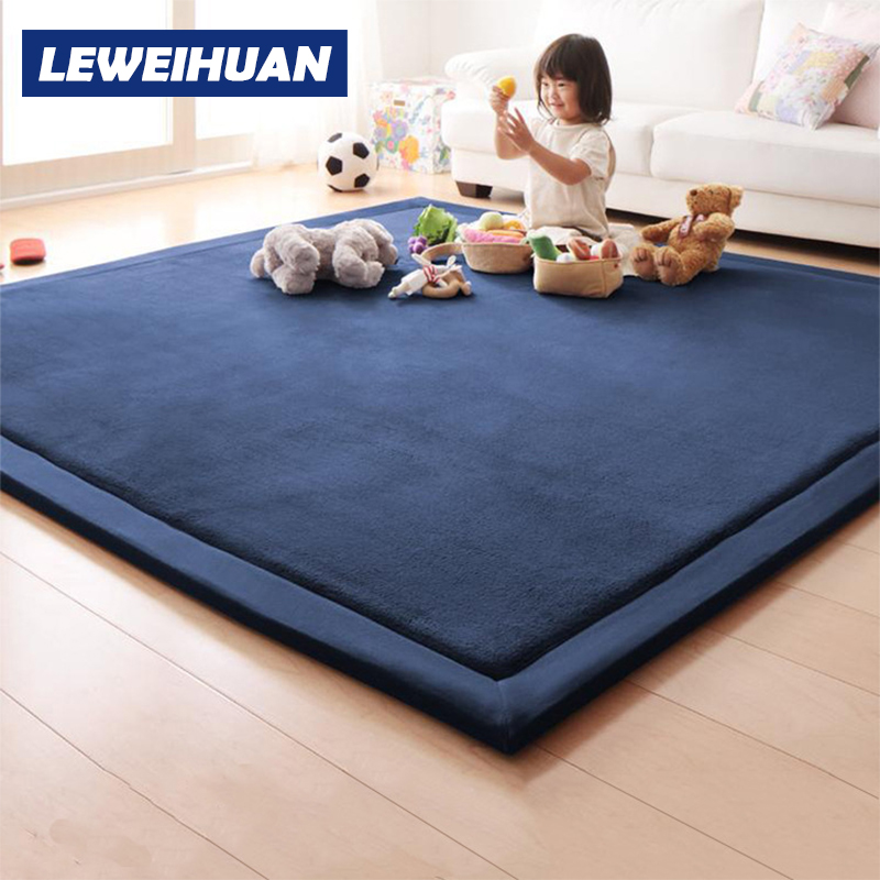Thick Play Mats Coral Fleece Blanket Carpet Children Baby Crawling Tatami Mats Cushion Mattress For Bedroom Kids Christmas Gifts