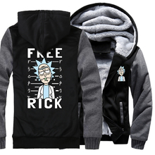 novelty Rick and Morty jackets men wool liner winter coats raglan long sleeve plus size sweatshirts male brand tracksuits 2019 недорого