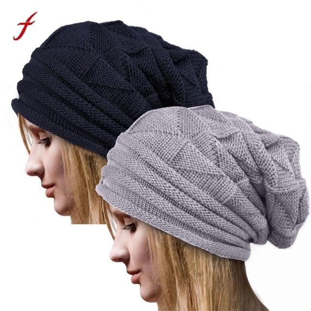 20192019 las nuevas mujeres invierno sombrero de punto de lana Beanie  calientes de punto gorro de 411ccf8e1dc