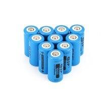16340 Li-ion Rechargeable Battery 3.7V 2800mAh Flashlight Torch Battery Bateria 16340 Lithium Battery Drop Shipping цена и фото