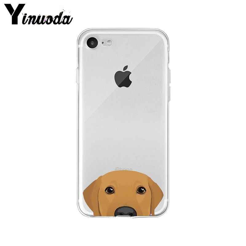 Yinuoda милый мультяшный собачий Кот умный чехол прозрачный мягкий чехол для iPhone X XS MAX 6 6s 7 7 plus 8 8 Plus 5 5S SE XR