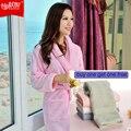 Amantes albornoces de algodón 100% toweled 100% algodón robe bathoses engrosamiento medio-largo de las mujeres masculinas
