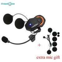 FreedConn T MAX Motorcycle Headset 6 Riders Moto Intercomunicador Motorbike Helmet Group Intercom FM Radio Bluetooth 4.1