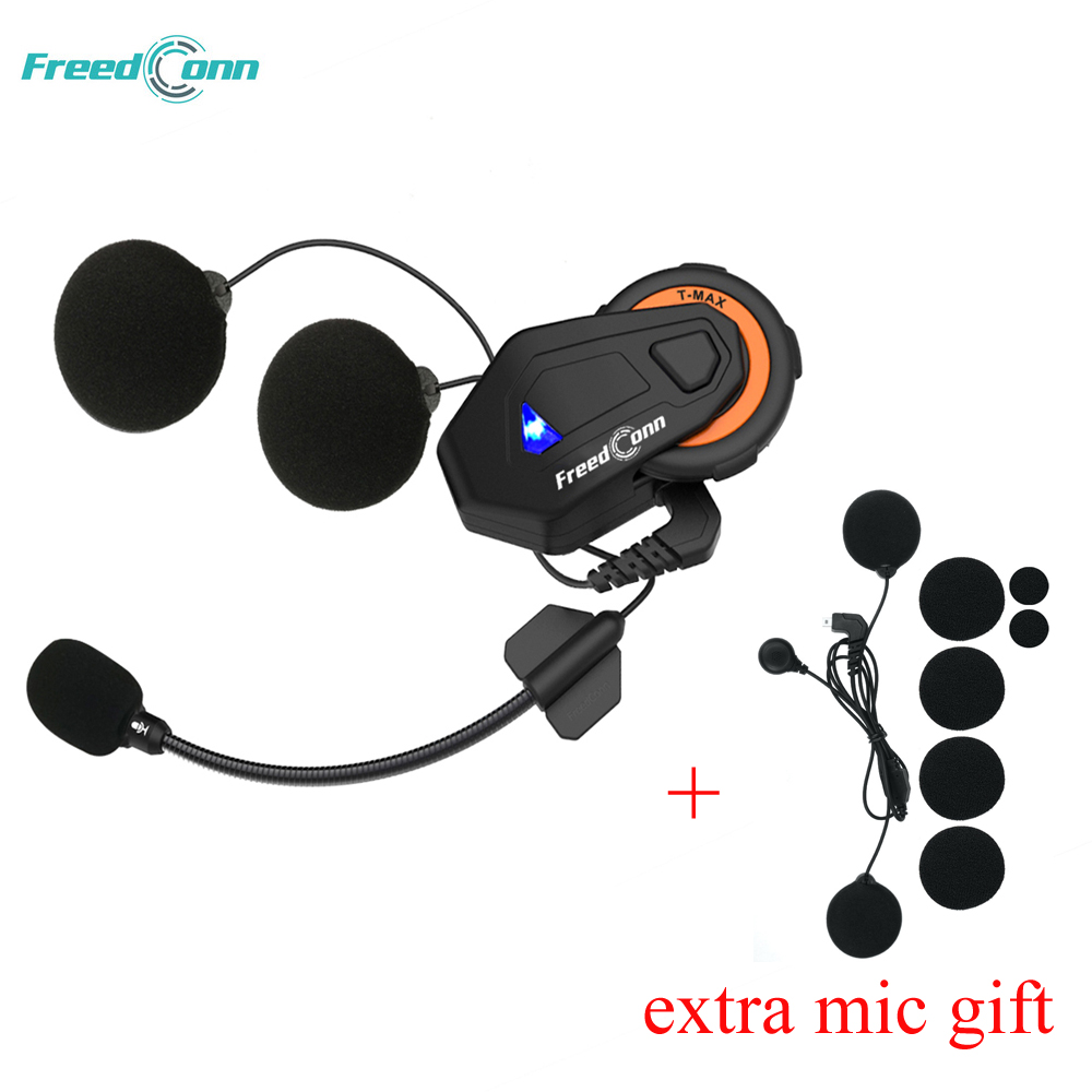 FreedConn T-MAX Motorcycle Helmet Headset 6 Riders Moto Intercomunicador Motorbike Helmet Group Intercom FM Radio Bluetooth 4.1