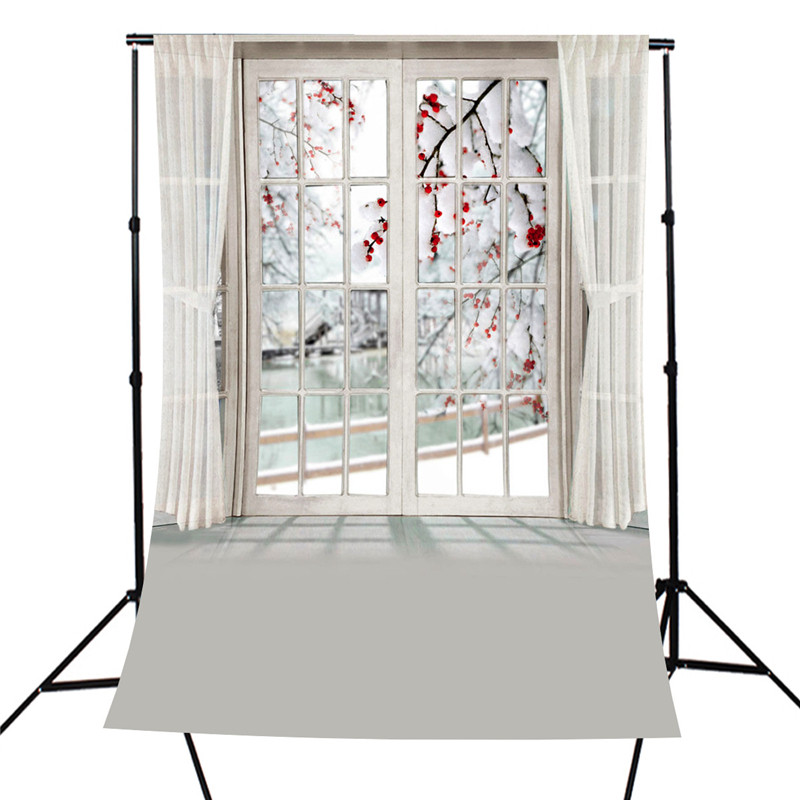 5x7FT Window Plum Blossom Room Theme Photography Background For Studio Photo Props Photographic Backdrops cloth 1.5 x 2.1m kate shabby window backdrop for photography portable cotton photographic studio props gothic indoor background 5x7ft