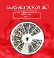 free shipping  glasses screw set nut gasket 12 differnt park  good use glasses accessories