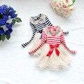 2015 Fall Autumn Winter Kids Clothes Girls Dress Sequins Collar Baby Girl Dress Christma Kids Girl Dresses Stripe Tutu Dress