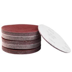 "Image 2 - 40 יחידות אדום עגול נייר זכוכית מלטש דביקה נייר סנדר 5 ""125 מ""מ גריסים 320/400/600/800/1000/1200/1500/2000"