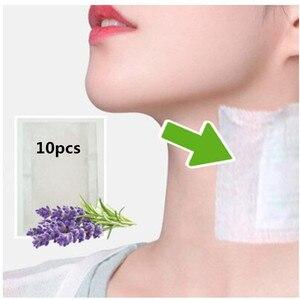 Image 2 - 10 patches/Box Nutrispot Neck Lymphatischen Detox Patch Anti Schwellungen Pflanzliche LymphPads Detox Patches Pads Zu Verbessern schlaf