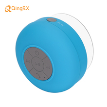 QINGRX Mini Portable Subwoofer Shower Bathroom Waterproof Wireless Bluetooth Speaker Built-in Mic English&French User Manual