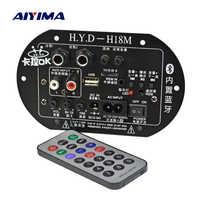AIYIMA Mono placa amplificadora para subwoofer Micrófono Dual K canción Bluetooth amplificador 30-150W para 6-10 pulgadas altavoz 220V 12V 24V