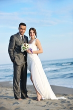 2016 Summer Men Suits Beach Wedding Tuxedos Slim Fit Two Button Groomsman Wear Best Man Suit