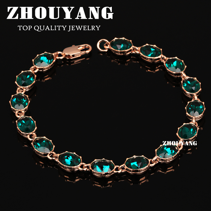 Top Quality ZYH153 Simple And Noble Green Crystal Rose Gold Color Bracelet Jewelry Austrian Crystals Wholesale все цены