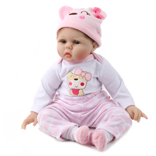 NPKDOLL 55cm Soft Silicone Doll Reborn Baby 22″ Toy For Girls Newborn Girl Baby Birthday Gift For Child Bedtime Early Education