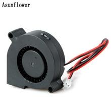 Турбинный вентилятор постоянного тока небольшой вентилятор 5015 промышленный вентилятор охлаждения DC 12 В/24 В с 50x50x15 мм с 50x50x15 мм для 3D-принтера запчасти охладитель