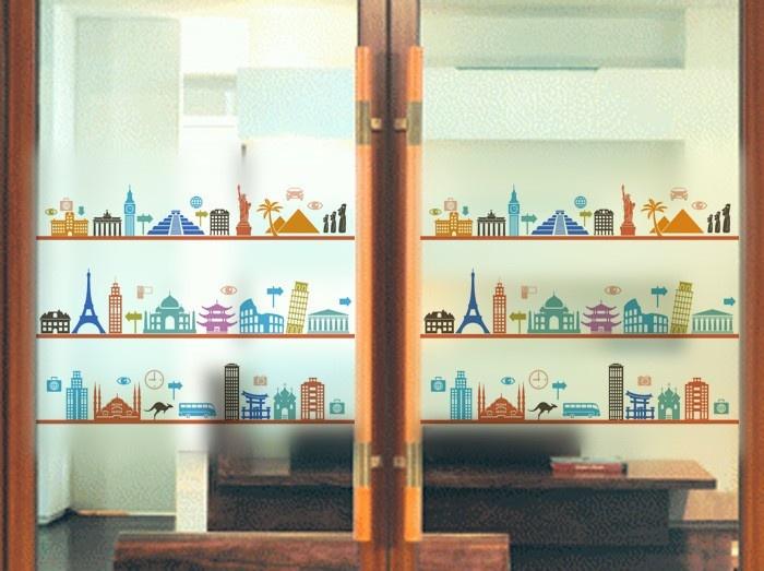 mundial de vidrio pelcula pelcula de plstico con etiqueta de vidrio esmerilado puerta corredera estudio