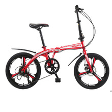 [TB07]Folding bicycle 14 inch 16 inch 20 inch speed double disc brake ultra light men and women adult mini bicycle