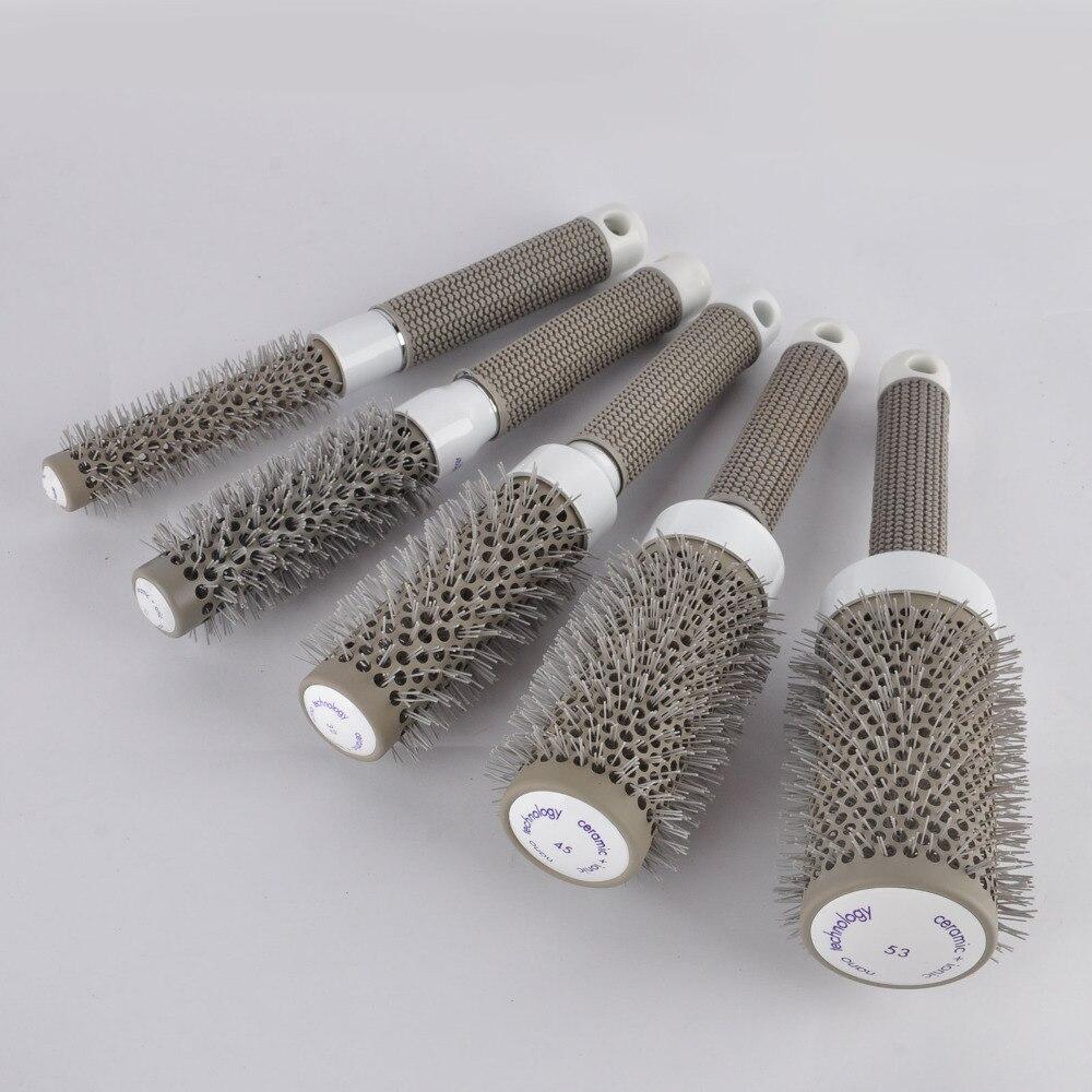 5pcs Rund Rolling Hair Brush Set Barrel Curling Brush Kam Hair - Hårpleie og styling - Bilde 3