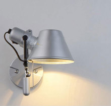 AC100-240V Modern Wall Lamp Sconce Beside/Porch/Reading Light Head Adjustable Aluminium Lampshade Home Art Deco wall sconce lamp