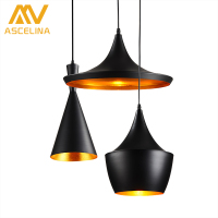 ASCELINA LED Pendant Lights Loft Style Industrial Chandelier Lighting Vintage Hanglamp With Lamp Shade Living Room
