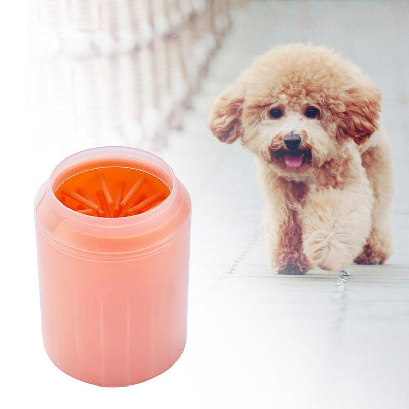 Dog Paw Cleaner Soft Gentle Washer Cup Paw Clean Brush