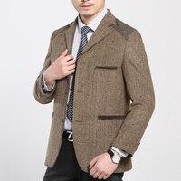 Autumn And Winter Warm Woolen Suit Blazer Men Jacket Coat Khaki Blazer Masculino Slim Fit Business Casual Outerwear Plus Size