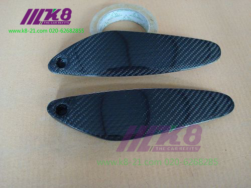 New Rear Spoiler End Cap With Letters For NISSAN Skyline R33 GTR GTST Carbon Fiber 2PCS PAIR Car Accessories Car Styling