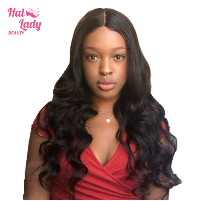 5ea63bbcdcd US $30.5 49% OFF|Halo Lady Beauty Chinese Lace Front Human Hair Wigs Pre  Plucked Body Wave Lace Front Remy Hair Wigs For Women with Baby Hair-in  Human ...