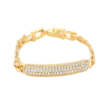 New Fashion Women Gold Sliver Alloy Link Chain Crystal Wrist Bracelet Trendy Firm Metal Perfect Cuff Hand Bracelets Jewelry