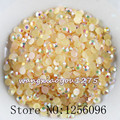 5000pcs/bag,SS16,4mm,Nail Art,Peach,Jelly AB resin flatback crystal rhinestone,phone case,use glue,Crystal nails,Decoration