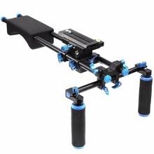 Mcoplus 102F Shoulder Mount Rig stabilizer Slider& Dual-hand Handgrip Movie Kit for Canon Nikon Sony DSLR DV Cameras Camcorders