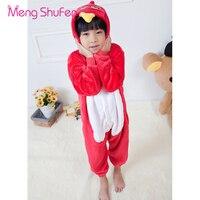 Mengshufen Pajamas Set Children Bird Sleepwear Set Flannel Funny Unsiex Pyjamas Nightgown Winter Cartoon Warm Kids