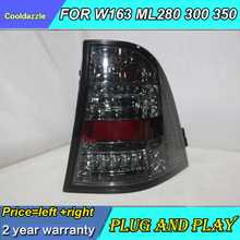 Для Mercedes-Benz W163 ML280 ML300 ML320 ML350 светодиодный фонарь светильник чёрное Дымовое средство задние лампы 1998 1999 2000 2001 2002 2003 2004 сзади