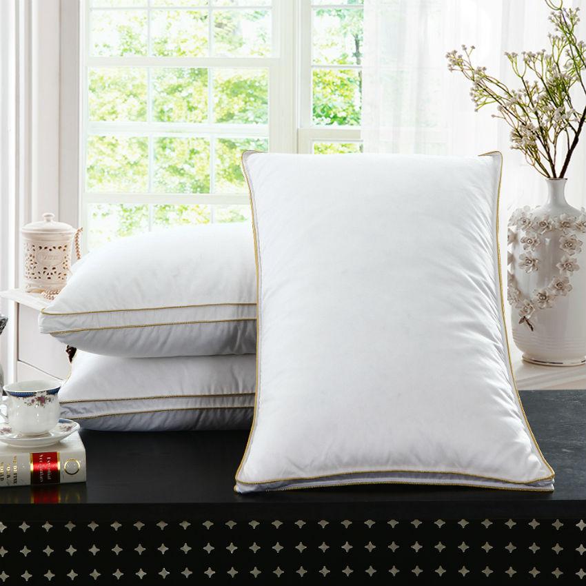 ピーターカヌンブランドデザインホワイトグースフェザーネックヘルスケア寝具枕100%コットンシェルが羽を呼吸させる008