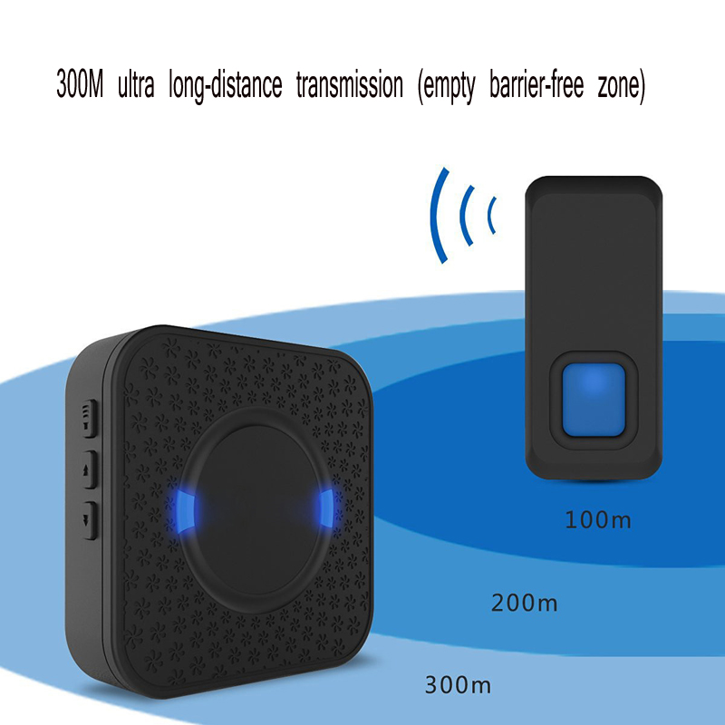 Home Wireless Doorbell 55 First Ringtone 300M Remote Control Distance 100dB 110-260V 0.2WHome Wireless Doorbell 55 First Ringtone 300M Remote Control Distance 100dB 110-260V 0.2W