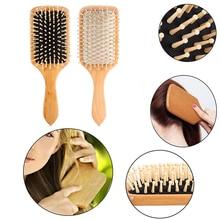 Massage Comb Paddle Brush Antistatic Combanti-static Natural Wooden Massage Hairbrush Comb Scalp Health Care Paddle Brush