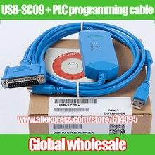 1 шт. USB-SC09+ PLC Кабель для программирования для Mitsubishi/USB к RS422 адаптер для MELSEC FX и plc системы электронных данных