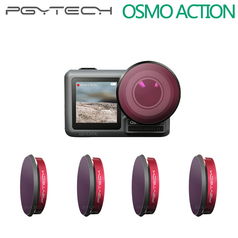PGYTECH DJI Osmo Action Camera Lens Filters ND4 8 16 32 64 Kits ND4 8 16