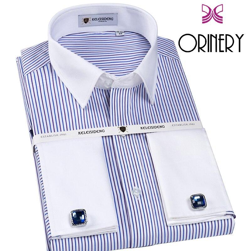 CAIZIYIJIA 2018, новая дизайнерская мужская рубашка, 100% хлопок, длинный рукав, французские манжеты с запонками, бесплатная рубашка смокинг