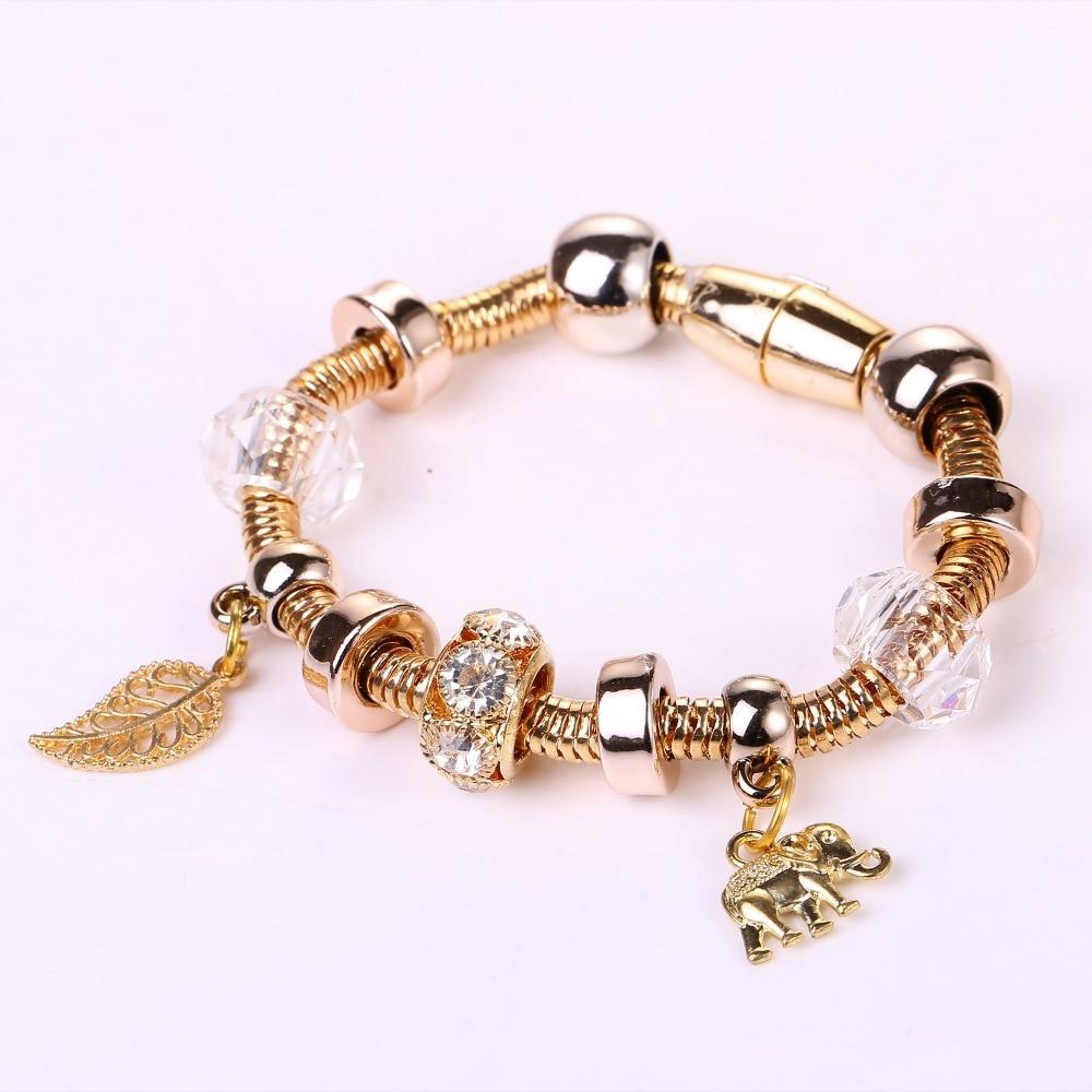 2016 Hot Charm Bracelets And Charm Bracelets Crown Pendant Metal Ball Friendship  Bracelet Lady Fashion Bracelet
