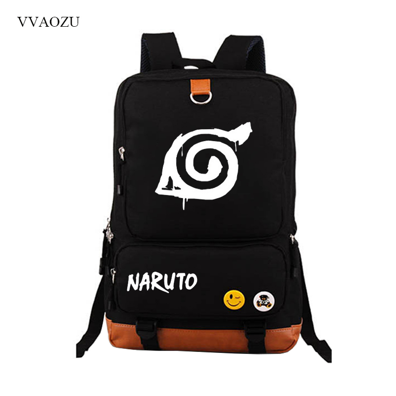 Naruto Canvas Backpack Casual Rucksacks Teenagers Student School Bags Bagpack Travel Laptop Bag Schoolbag Mochila zelda laptop backpack bags cosplay link hyrule anime casual backpack teenagers men women s student school bags travel bag page 1