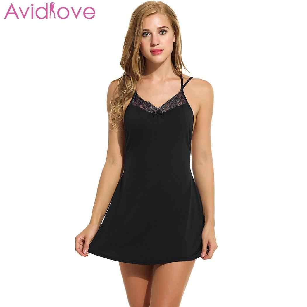 9c23f4104075 Avidlove женское сексуальное ночное платье Лето Хлопок с открытой спиной  Ночная ...