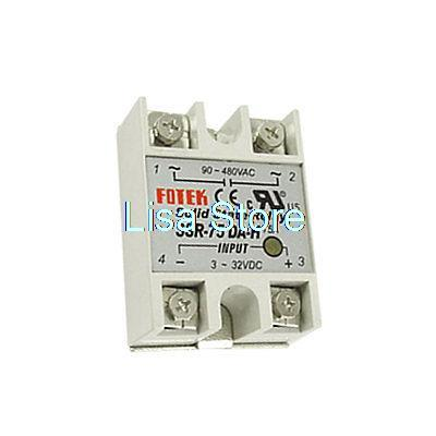 цена на 3-32VDC Input 90-480VAC Output 75A SSR Solid State Relay